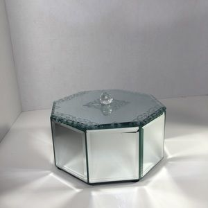 Cynthia Rowley Mirrored Glass Jewelry Box!
